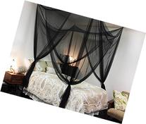 Black Four Corner Canopy Bed Netting Mosquito Net Full Queen
