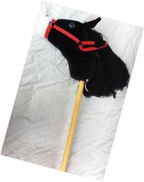 Black Hobby Horse on Stick with Sound