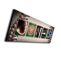 Personal Prints Block Mount SM - Personalized Baseball Name