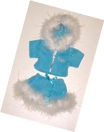 Blue Princess Sparkle Outfit w/Blue Boots Teddy Bear Clothes