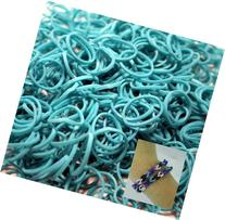 BlueDot Trading 2400-Piece Teal Rubber Band Kids Craft with
