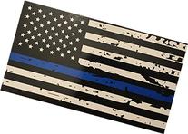 BlueLine Flags Tattered Thin Blue Line Vinyl Reflective