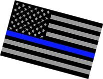Blueline Flags Subdued Thin Vinyl Reflective Decal, American