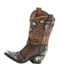 Boots and Spurs Western Cowboy Boot Vase for Western Home