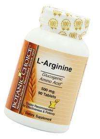 Botanic Choice, L-Arginine Tablets, 500mg, 90-Count