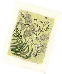 Botanical III mixed media drawing
