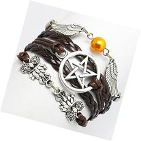 Bracelet, Angel Wings, Wing, Owls, Pagan and Wiccan, Dean