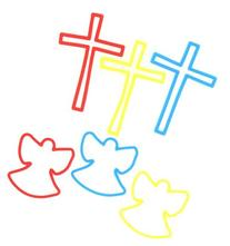 Bracelet-Sillycone Bandz-Crosses/Angels-Glow