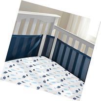 Breathable Mesh Crib liner w/Microfiber Binding-fits all