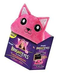 Snuggie Bright Eyes Kitten Deluxe Kids Blanket, Glow in The