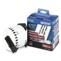 """Brother - Removable Paper Label Tape, 2."""" x 100ft Roll,"""