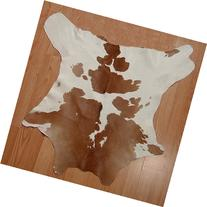 Brown & White Calfskin Rug