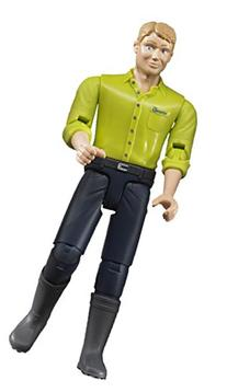 Bruder Man with Light Skin/Dark Blue Jeans Toy Figure