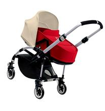 Bugaboo Bee3 Bassinet & Sun Canopy - Off White - Red