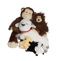 Bundle - Set of 3 Plush Stuffed Animals Bear Monkey Lamb