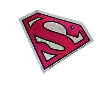 C&D Visionary DC Comics Superman Super Girl Logo Glitter