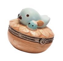 C.R. Gibson Nest Ceramic Trinket Keepsake Box