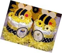 CUTE AS CAN BEE Bumble Bee Mini Diaper Cakes - Handmade by