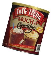 Caffe D'Vita Mocha Cappuccino Hot or Cold Cappuccino Mix 64