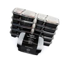 California Home Goods 2 Compartment Reusable Food Storage
