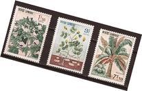 Cambodia Stamps - Sc 149-51 Cotton, Peanuts, Coco Palm, MNH