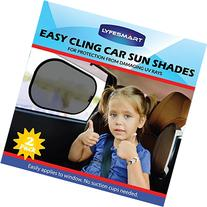 Car Sun Shade  Window Shade, Black, Adjustable, Visor, Cling