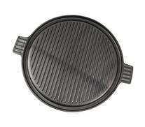 Cast Iron 14 Inch Round Reversible Camping Griddle and Grill