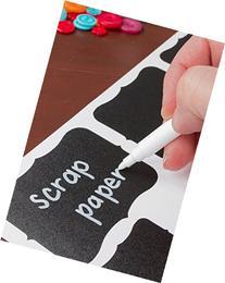 Chalk Pen : Bold White Liquid Chalk Marker with 2mm Fine Tip