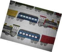 Charles Street Kids Trains Reversible Quilt Twin