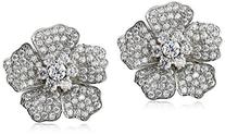 Charles Winston, S Silver, Cubic Zirconia Pave Flower