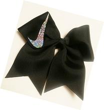 Cheer bows Black Holographic Nike Hair Bow