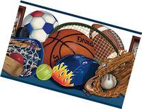 Chesapeake BBC92211B Doug Sports Portrait Wallpaper Border,