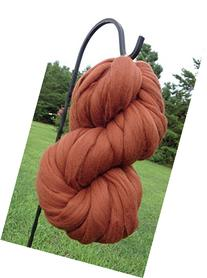 Chestnut Brown Wool Top Roving Fiber Spinning, Felting