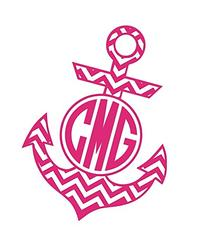 Chevron Anchor Monogram by An Engineered Craft -