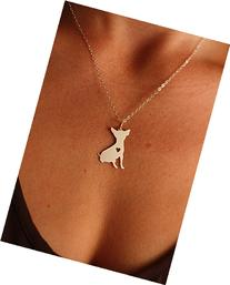 Long Haired Chihuahua Dog Necklace - Chi - IBD - Personalize