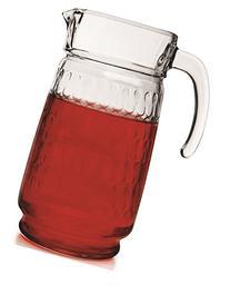 Circleware Vortex Glass Beverage Drink Pitcher, 64 Ounce,