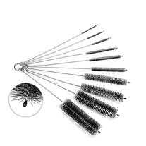 Oria Cleaning Brush Set, 8 Inch Nylon Tube Brushes with
