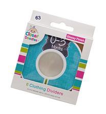 Closet Doodles C63 Boy Baby Closet Dividers Set of 6 Fits 1.
