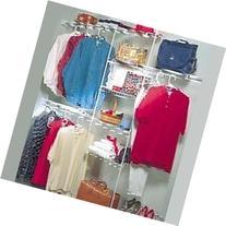 ClosetMaid 1608 5ft. to 8 Ft. Closet Organizer Kit, White