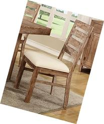 Coaster 105542 Home Furnishings Side Chair , Wire Brushed