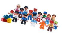 Community Figures Set Lego Duplo Compatible 16 Pieces By Lp