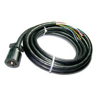 Conntek ROJ Black 7 Way Plug Inline Trailer Cord
