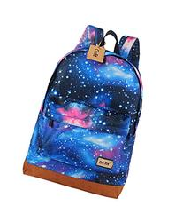 Coofit?Fashion Canvas Galaxy Universe Star Girl's Backpack