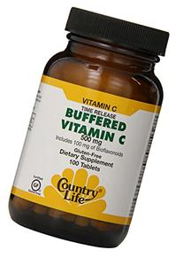Country Life - Buffered Vitamin C, 500 mg, 100 tablets