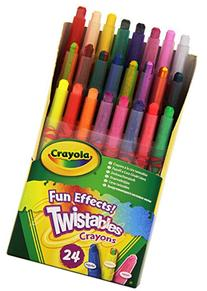 Crayola Fun Effects Mini Twistables Crayons, 24-Count,  1