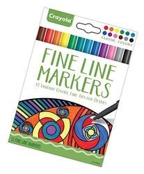 Crayola 58-7713 Fineline Markers 12 Vibrant Colors with Fine