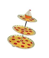 Creative Co-op Dolomite Hand Painted 3-Tier Stand with