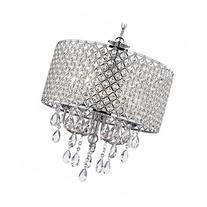 Crystal Chrome Chandelier Pendant Light with Crystal Beaded