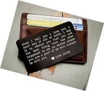 Custom Engraved Wallet Insert, Personalized Wallet Card,