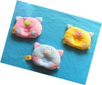 Cute Pig Style Soft Pillow Prevent Flat Head for Baby Infant